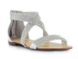 silver diamante criss cross sandal chockers shoes