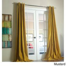 96 Inch Curtains Blackout by Lambrequin Tao Cotton Velvet 96 Inch Curtain Panel By Lambrequin