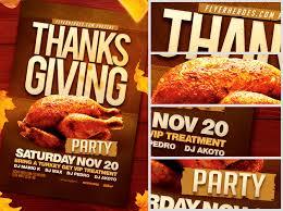 thanksgiving flyer template flyerheroes