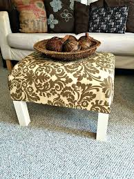 Ottoman Wrap Tray Diy Ottoman Knitted Pouf Cover Upholstered Table