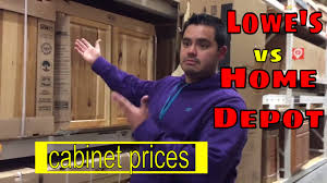 lowes vs home depot cabinet refacing lowe s vs home depot cabinet prices