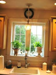 kitchen sink hanging lights light placement location rustic ing