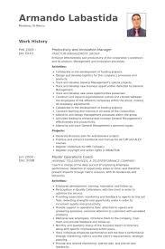 innovation manager resume samples visualcv resume samples database