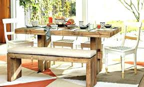 farmhouse table with bench and chairs focus rustic kitchen table with bench sets tables log wood round and