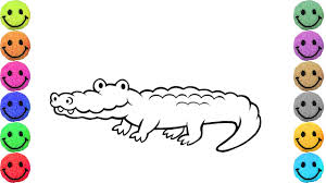 crocodile coloring pages drawing for kids learn colors youtube