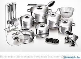 batterie de cuisine en batterie de cuisine en acier inoxydable blaumann 27 pièces a