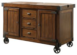 kabili cart antique tobacco finish industrial kitchen islands