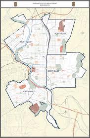 Pennsylvania City Map by Police Department Quadrants City Of Reading Pennsylvania