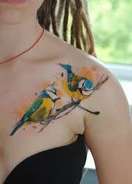 watercolor tattoo tomtit by dopeindulgence tattoo pinterest