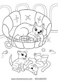 childrens coloring book cartoon family stock vector 693482293