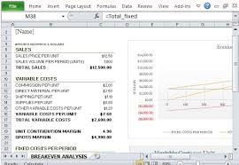 Cost Volume Profit Graph Excel Template How To Easily Create Breakeven Analysis In Excel