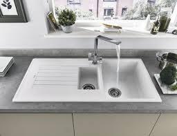 Lamona White Granite Composite  Bowl Sink Kitchen Sinks - White composite kitchen sinks