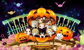 vocaloid halloween monster party night anime halloween chibi cartoon halloween short 21355wall jpg