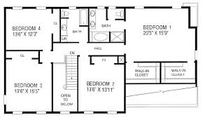 4 bedroom house blueprints 4 bedroom house plans with office homes zone