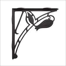 furniture magnificent decorative chrome shelf brackets ornate