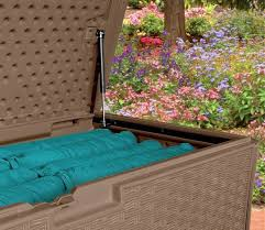 furniture attractive suncast deck box for outdoor storage for