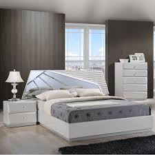 barcelona bedroom set in high gloss silver line dcg stores