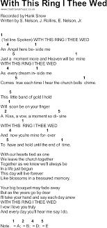 with this ring i thee wed songs with chords with this ring i thee wed