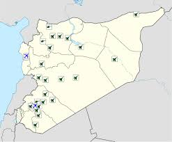Palmyra Syria Map by List Of Airports In Syria Wikipedia