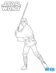 Coloriages luke skywalker  frhellokidscom