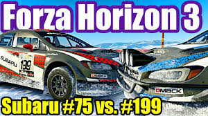 subaru sti rally car subaru wrx sti vt15r 75 vs 199 forza horizon 3 rare cars