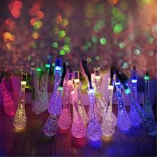 solar powered fairy lights for trees solar powered 30led string light water drop covers christmas tree
