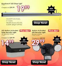 keystone 4 led shop light 5000 lumens 4 5000 lumen led shop lights only 19 99 online only