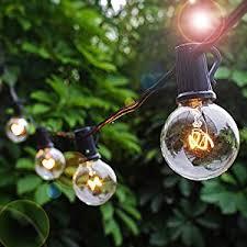 Christmas Patio Lights by Amazon Com Patio Lights Party String Lights G40 Globe Bulbs Warm