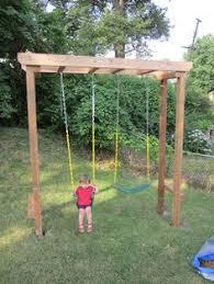 Backyard Swing Set Ideas Sturdy Swing Set That Will Compliment A Rustic Backyard
