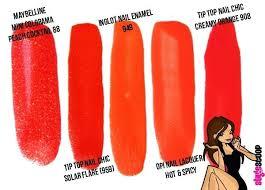 shades of orange names red orange color names attienel me