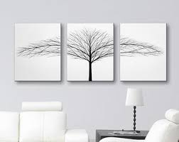 Decorator White Walls Canvas Art Tree Painting 3 Piece Wall Art Tree Of Life Art