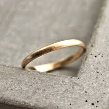 brushed gold wedding band women s gold wedding band 2mm half slim recycled 14k yellow