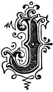 j ornamental letter clipart etc
