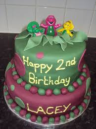 barney birthday cake barney friends 2nd birthday cake cakecentral