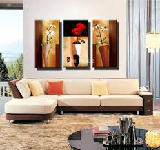 Livingroom Paintings by Cheap Brown Orchid Modern Art Deco Mural Painting The Living Room