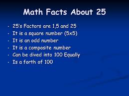 some interesting math and everyday facts about ppt