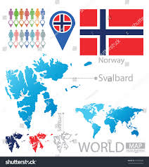 Norway World Map by Svalbard Norway Flag World Map Vector Stock Vector 153083642