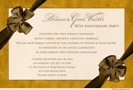 Dinner Party Invitations Vintage 50th Anniversary Party Invitation Formal