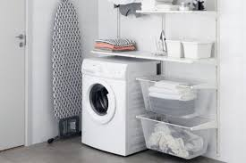ikea kitchen cabinets laundry room ikea sektion solutions for a neat laundry room