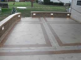 outdoor backyard concrete slab ideas living today breeze ft w x d