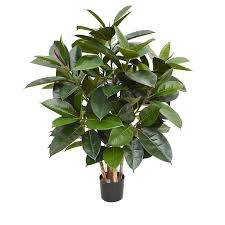 artificial plants lifelike artificial green robusta plant 90cm maxifleur artificial