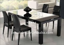 Contemporary Dining Room Design With Black High Gloss Dining Table