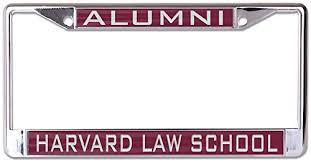 harvard alumni license plate frame harvard school ncaa inlaid metal license plate