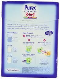 amazon com purex complete 3 in 1 laundry sheets spring oasis 22