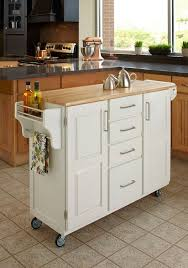 rolling islands for kitchens home styles create a cart white kitchen with wood top regard