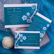 budget rustic blue floral wedding invitations ewi160 as low as 0 94