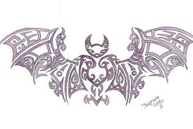 tribal bat outline tattoo stencil tattooshunter com