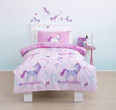 cute cute cute magical unicorn toddler cot bed duvet bedding