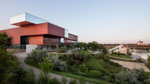 Volumes Behind The Curtain Remai Modern Museum In Canadian Prairies Comprises Stacked Volumes