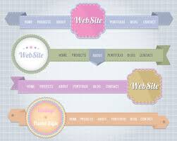 website menu design creative website navigation menu design vector 01 vector web